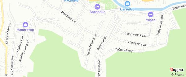 Ремесленная улица на карте Горно-Алтайска с номерами домов