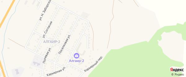 Песчаная улица на карте села Майма с номерами домов