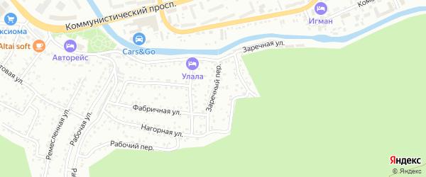 Заречный переулок на карте Горно-Алтайска с номерами домов