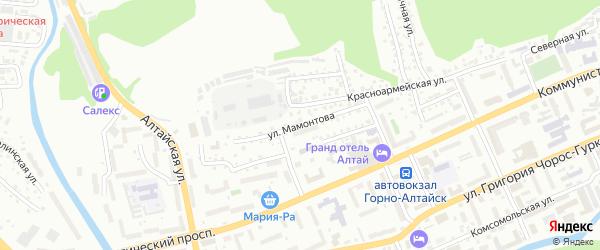 Улица Мамонтова на карте Горно-Алтайска с номерами домов