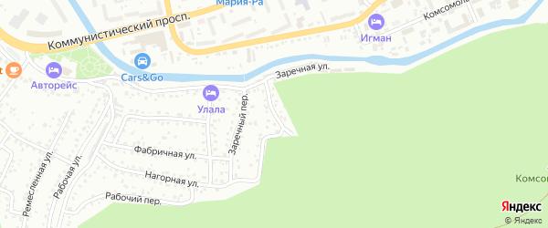 Нагорный переулок на карте Горно-Алтайска с номерами домов