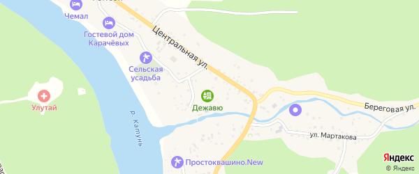Центральная улица на карте села Узнези с номерами домов