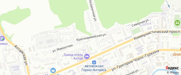 Красноармейская улица на карте Горно-Алтайска с номерами домов