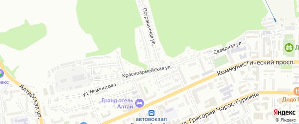 Первомайская улица на карте Горно-Алтайска с номерами домов