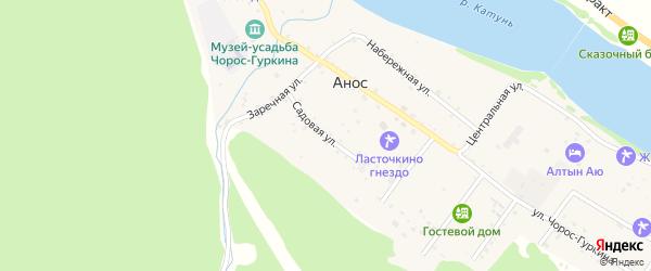 Садовая улица на карте села Аноса с номерами домов
