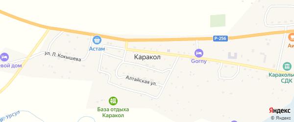 Улица Л.Кокышева на карте села Каракола с номерами домов
