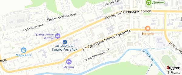 Улица Б.Головина на карте Горно-Алтайска с номерами домов