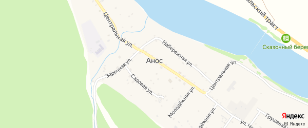Улица Чорос-Гуркина на карте села Аноса с номерами домов