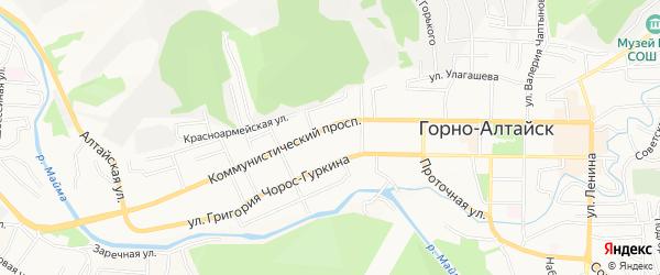 ГСК Коммунистический 39 на карте Горно-Алтайска с номерами домов