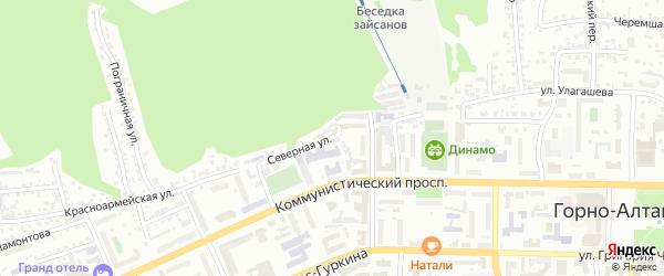 Северная улица на карте Горно-Алтайска с номерами домов