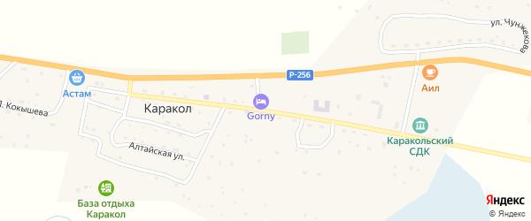 Улица Г.Чорос-Гуркина на карте села Каракола с номерами домов