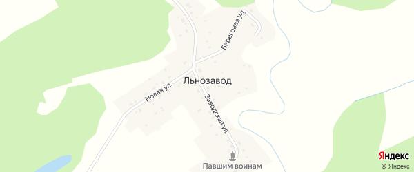 Новая улица на карте поселка Льнозавода с номерами домов