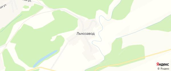 Карта поселка Льнозавода в Алтайском крае с улицами и номерами домов