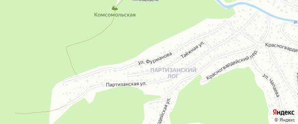 Улица Фурманова на карте Горно-Алтайска с номерами домов