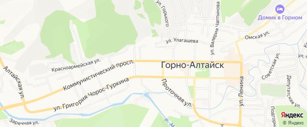 ГСК Коммунистический 27 на карте Горно-Алтайска с номерами домов