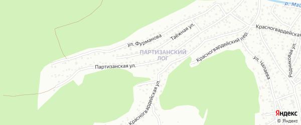 Партизанская улица на карте Горно-Алтайска с номерами домов