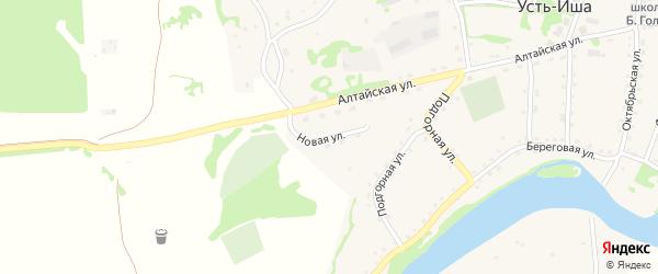 Новая улица на карте села Усть-Иша с номерами домов