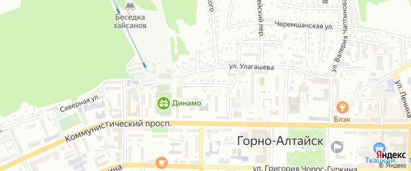 Улица Панфиловцев на карте Горно-Алтайска с номерами домов