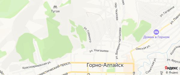СТ им.М.Горького на карте Горно-Алтайска с номерами домов