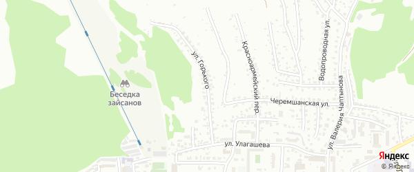 Улица Горького на карте Горно-Алтайска с номерами домов