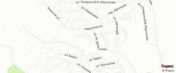 Тенистый переулок на карте Горно-Алтайска с номерами домов