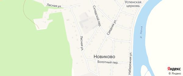 Улица Животноводов на карте села Новиково с номерами домов