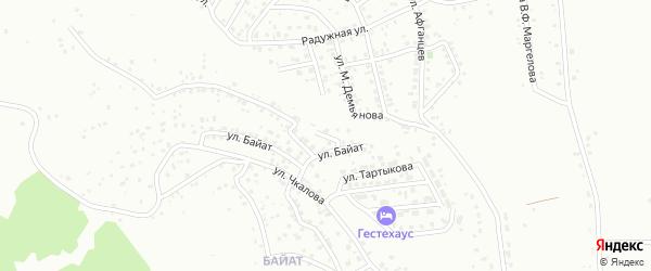 Звездный переулок на карте Горно-Алтайска с номерами домов