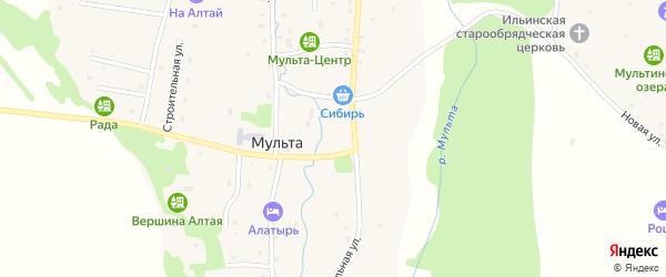Полевая улица на карте села Мульты с номерами домов