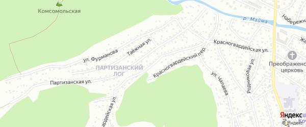 Красногвардейская улица на карте Горно-Алтайска с номерами домов