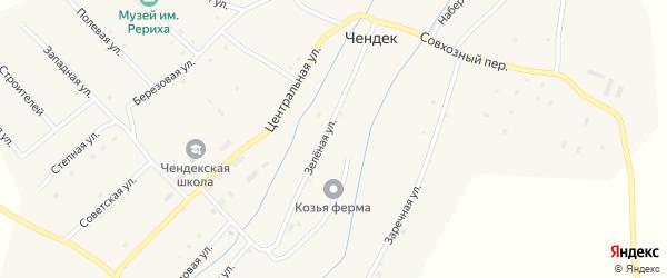 Заречная улица на карте села Чендека с номерами домов