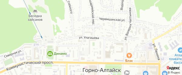 Улица Улагашева на карте Горно-Алтайска с номерами домов