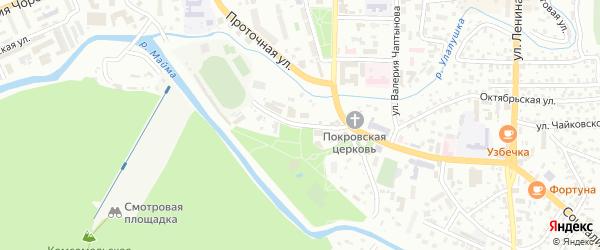 Спортивный переулок на карте Горно-Алтайска с номерами домов