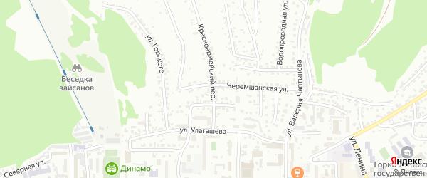 Красноармейский переулок на карте Горно-Алтайска с номерами домов