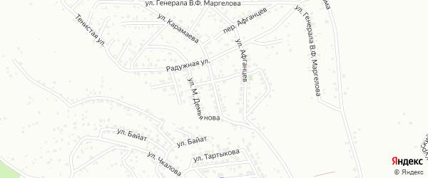 Улица имени С.С.Каташа на карте Горно-Алтайска с номерами домов