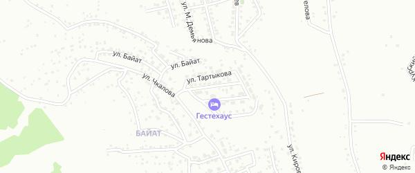 Переулок Т.Т.Казакова на карте Горно-Алтайска с номерами домов