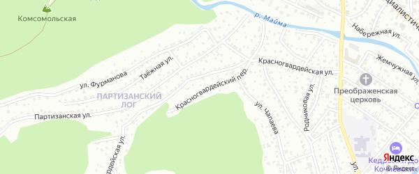 Красногвардейский переулок на карте Горно-Алтайска с номерами домов