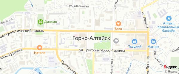 Переулок Лисавенко на карте Горно-Алтайска с номерами домов