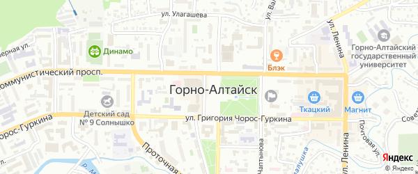 Совхозный переулок на карте Горно-Алтайска с номерами домов