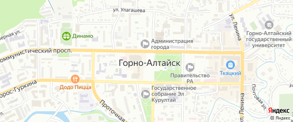 Улица Волкова на карте Горно-Алтайска с номерами домов