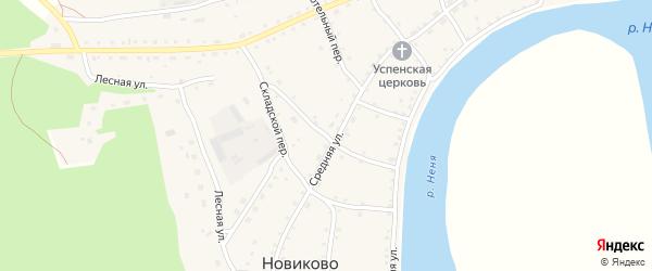 Веселый переулок на карте села Новиково с номерами домов