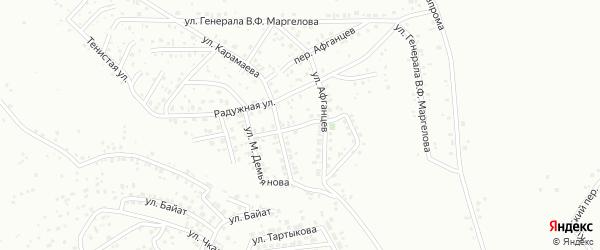 Улица Воинской славы на карте Горно-Алтайска с номерами домов