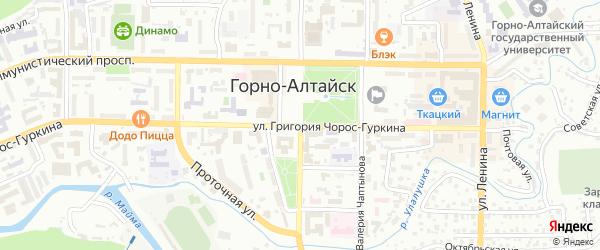 Улица Эркемена Палкина на карте Горно-Алтайска с номерами домов