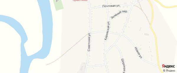 Советская улица на карте села Соусканихи с номерами домов
