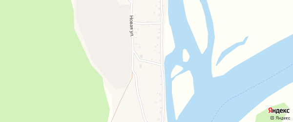 Конечный переулок на карте села Новиково с номерами домов