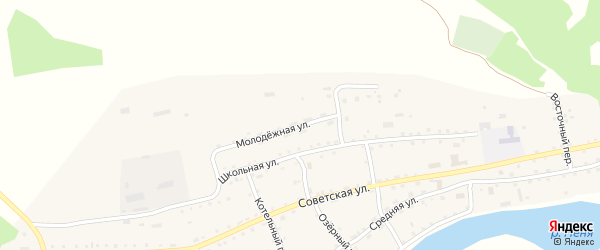 Молодежная улица на карте села Новиково с номерами домов