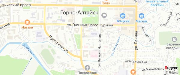 Аптечный переулок на карте Горно-Алтайска с номерами домов