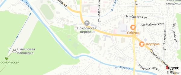 Театральный переулок на карте Горно-Алтайска с номерами домов