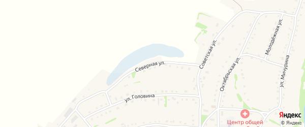 Северная улица на карте села Усть-Иша с номерами домов