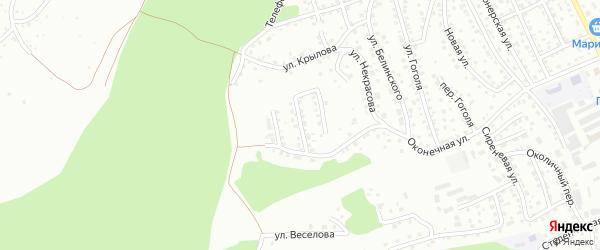 Переулок Глухарева на карте Горно-Алтайска с номерами домов