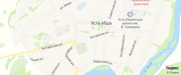 Алтайская улица на карте села Усть-Иша с номерами домов
